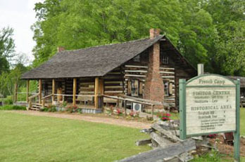 French Camp an old log cabin that use to be a place to stop for travelers, Natchez Trace Parkway
