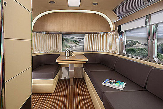 Front Lounge of Airstream Land Yacht