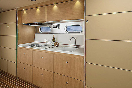 Airstream Land Yacht galley