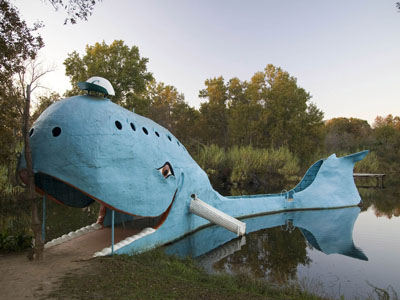 Blue Whale statue
