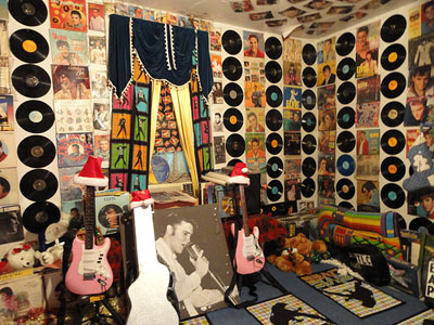 Interior of Graceland Too filled with Elvis memorabilia