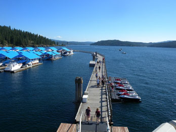 Boardwalk and Lake Coeur D'Alene, ID