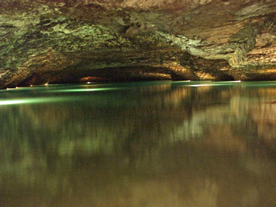 Large underground lake at Lost Sea Caverns