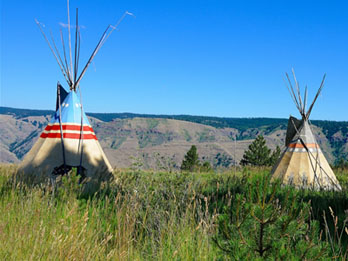 Nez Perce tipis at Nez Perce National Historical Park