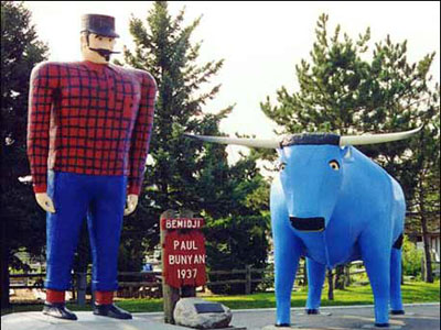 Paul Bunyan and the BlueOx at Bemidji, MN