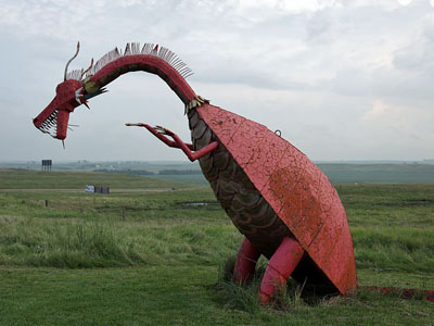 Red Dragon statue, Porter Sculpture Park, SD
