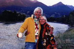 Becky Clarke and Maurrie Sussman standing by a lake