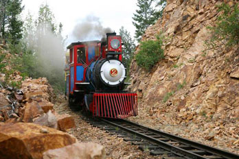 Cripple Creek and Victor Narrow Gauge Railroad Steam train