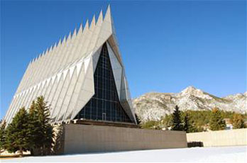 The US Air Force Academy Cadet Chapel, an architectural marvel
