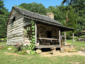 Appalachian Farm building at Humpback Rock, Blue Ridge Parkway