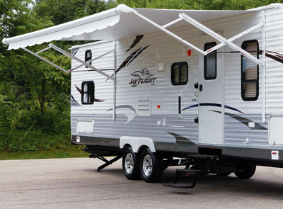 Travel Trailer with open awning