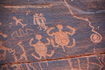 Petroglyphs at V-Bar-V Heritage Site