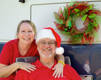 Rob and Linda Cook enjoying the Holiday Season in Florida