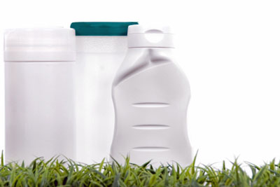Bottles containing eco-friendly cleaners