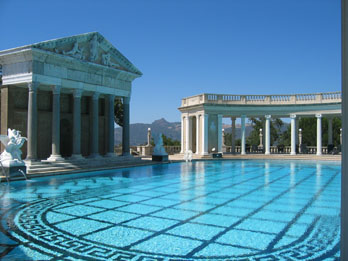 Outside pool at Hearst Castle