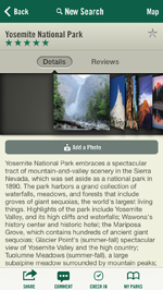 Oh, Ranger! ParkFinder app showing what to see and do at Yosemite National Park
