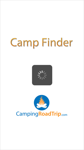 Camp Finder App - Splash View