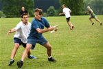 Group playing Ultimate Frisbee