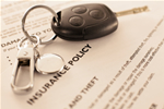 RV keys on an insurance agreement