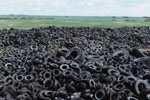 Mountain of old tires