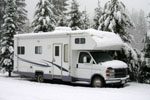 RV covered in snow