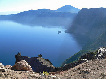 View of Crater Lake from Garfield Peak
