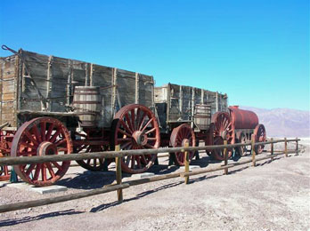 Mule Wagons at Harmony Borax Works, Death Valley National Park