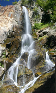 Grizzly Falls in Kings Canyon, California
