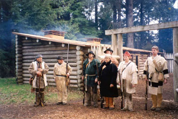 Drill reenactment at Fort Clatsop National Monument