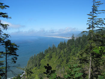 North scenic view from the end of Cape Lookout Trail