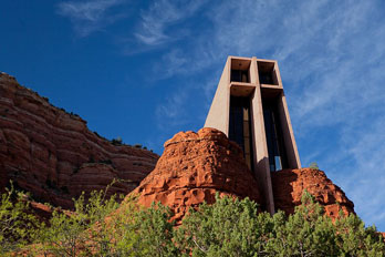 Chapel of the Holy Cross Sedona, built into red rock