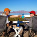 Rob and Linda Cook toasting each other at Lake Mead, NV