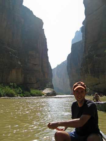 Canoeing through spectacular Santa Elenyan Canyon at Big Bend National Park