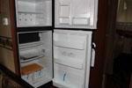 New empty and clean RV refrigerator